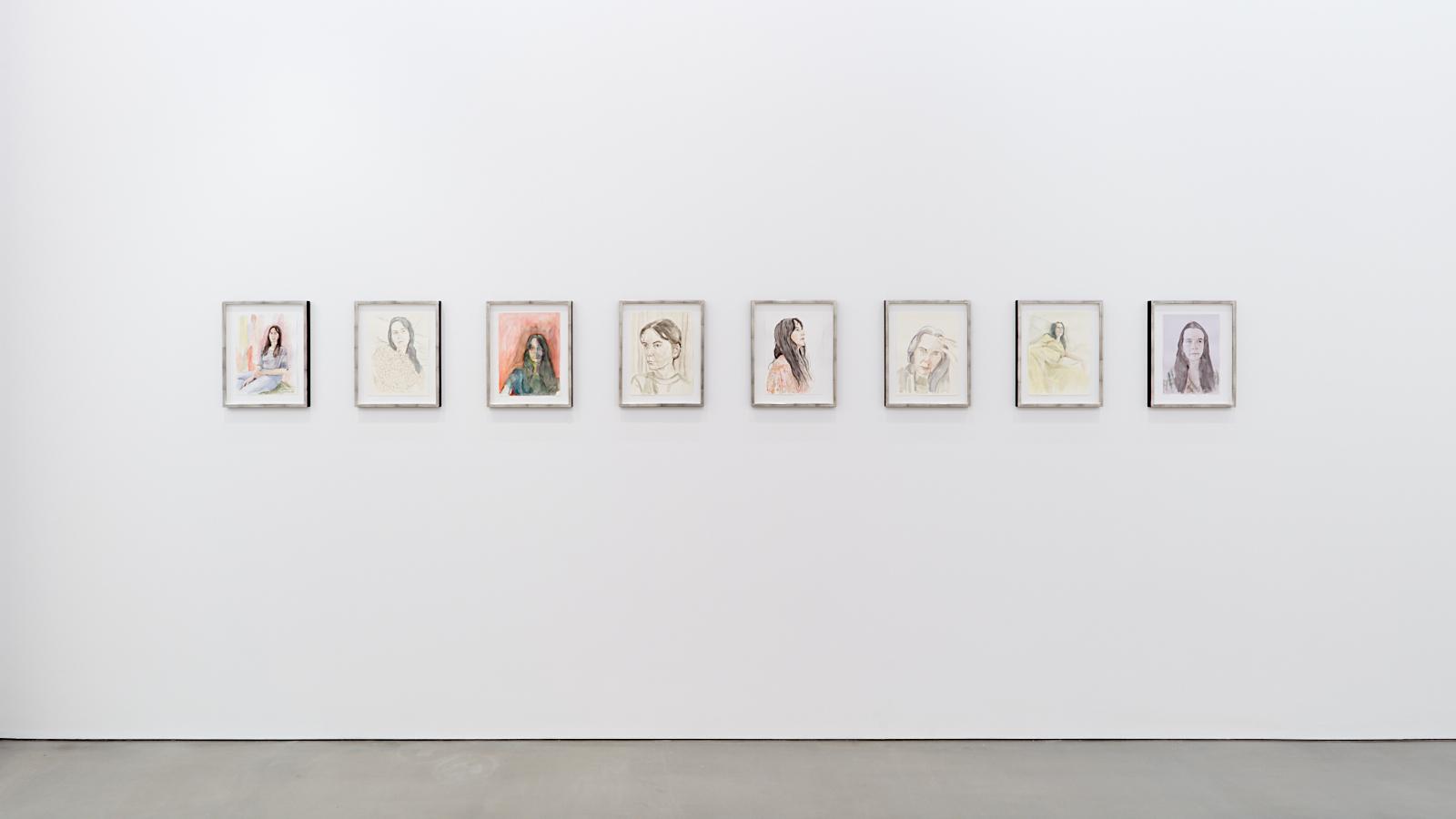 Gillian Wearing, Lockdown. Exhibition view: Maureen Paley, London 2020